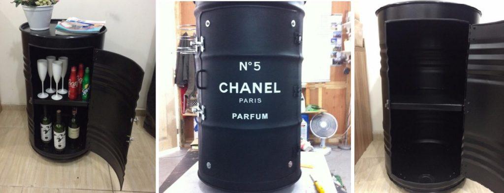 tambor decorativo armário chanel