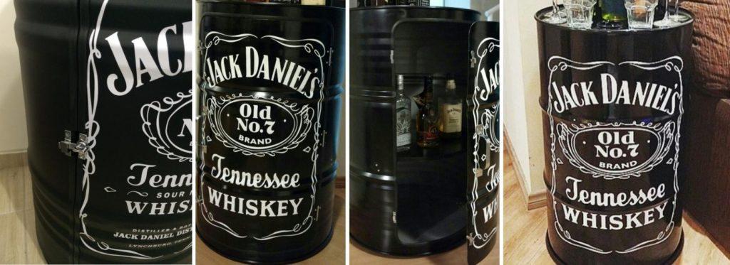 tambor decorativo armário jack daniels