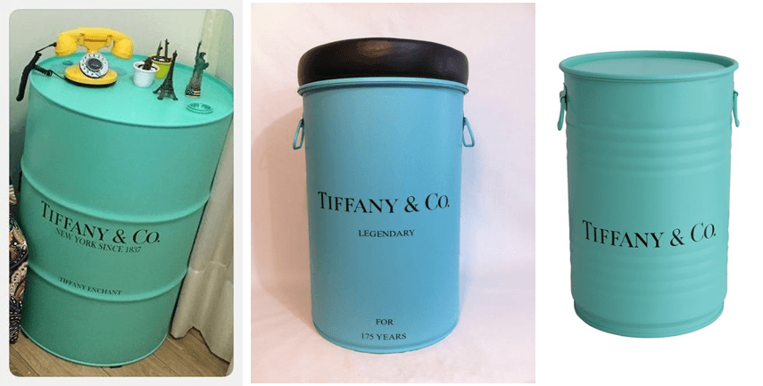 Tambor Decorativo Tiffany