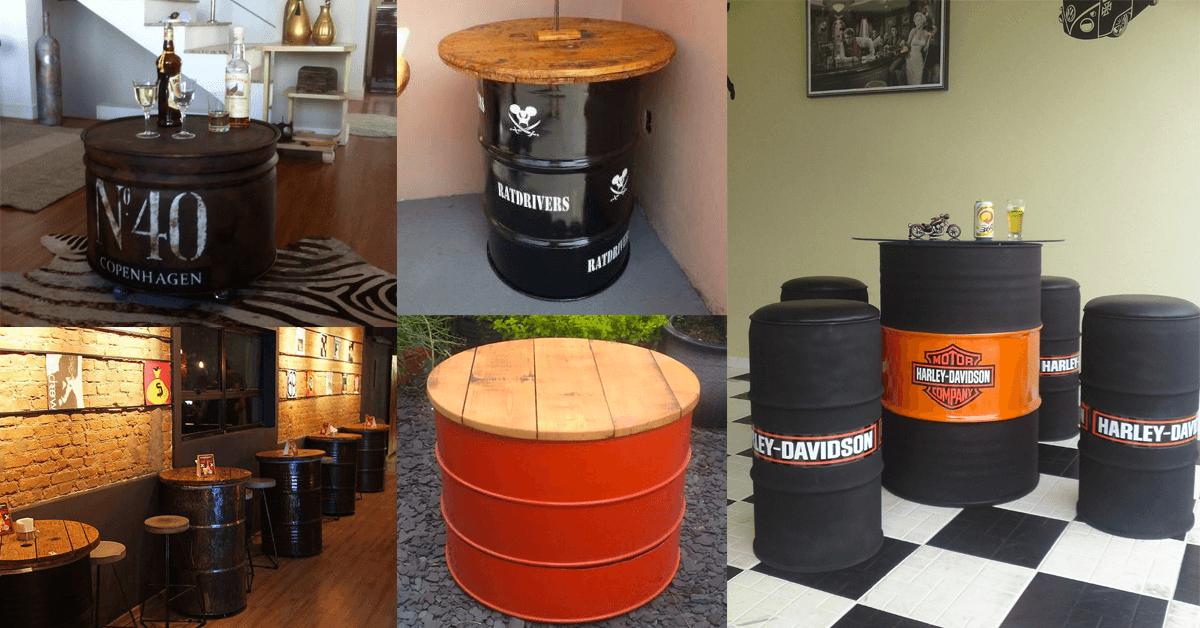 mesa de tambor de oleo