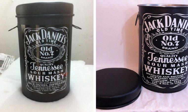 Tambor Decorativo puff Jack Daniels
