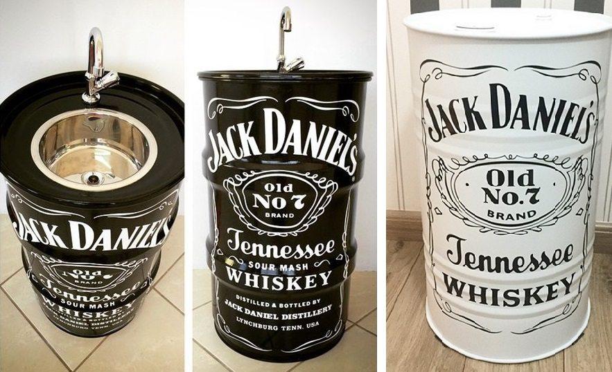 Tambor Decorativo Jack Daniels com pia