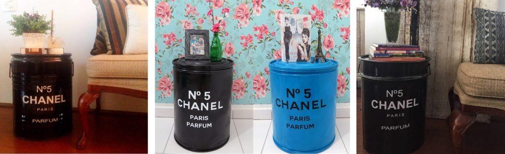 Tambor Decorativo Pequeno Chanel