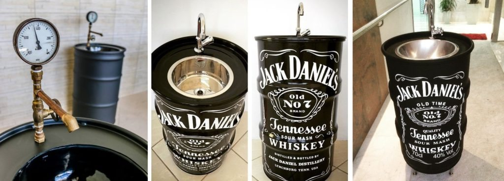 tambor decorativo jack daniels