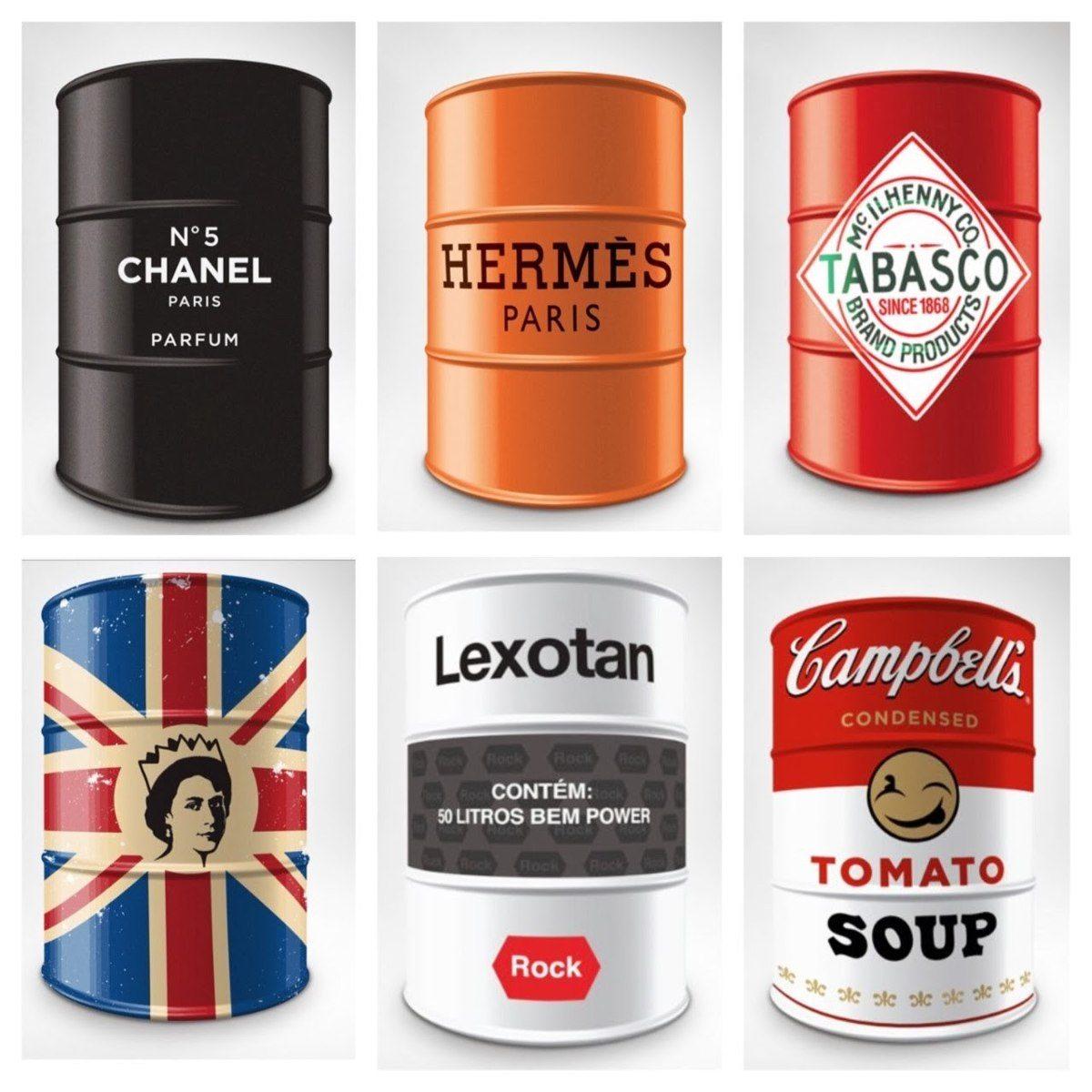 barril de marca