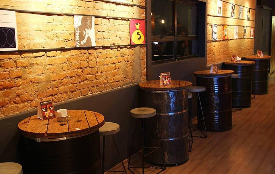 mesa de tambor decorativo