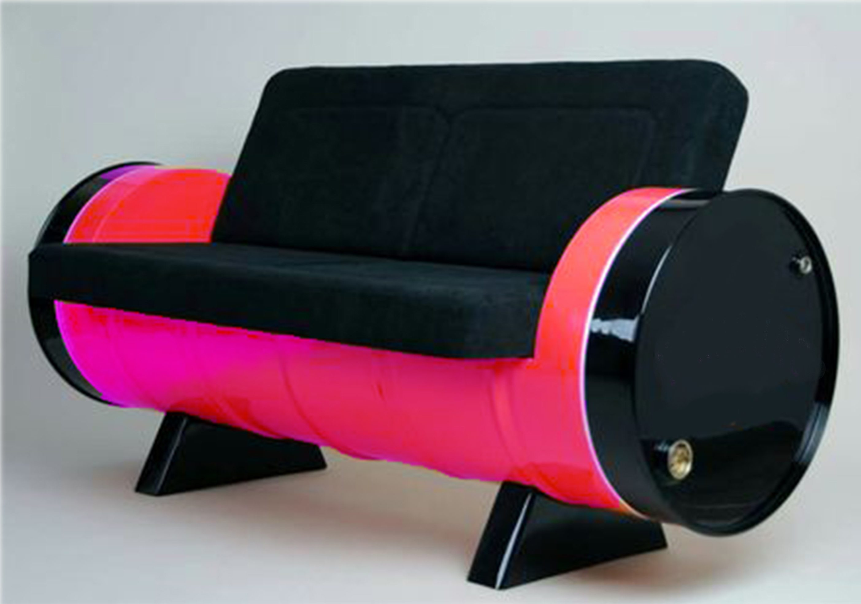 Sofa rosa tambor