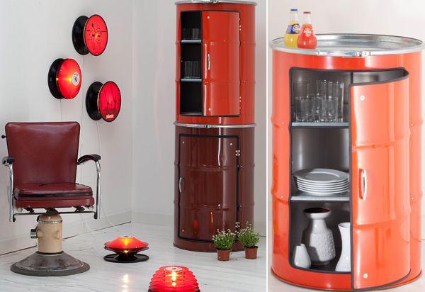 armário de tambor decorado para cabeleireiro