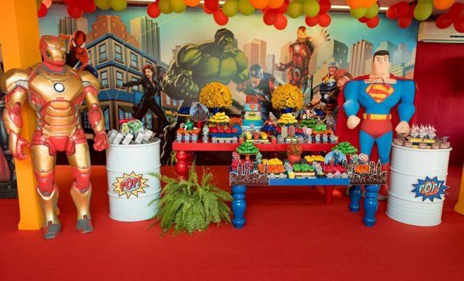 decoração festa infantil com tambor