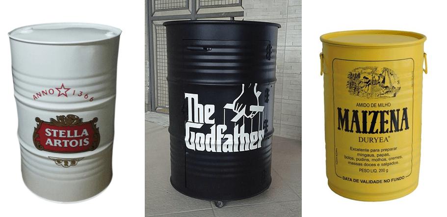 tambor decorativo de marcas famosas
