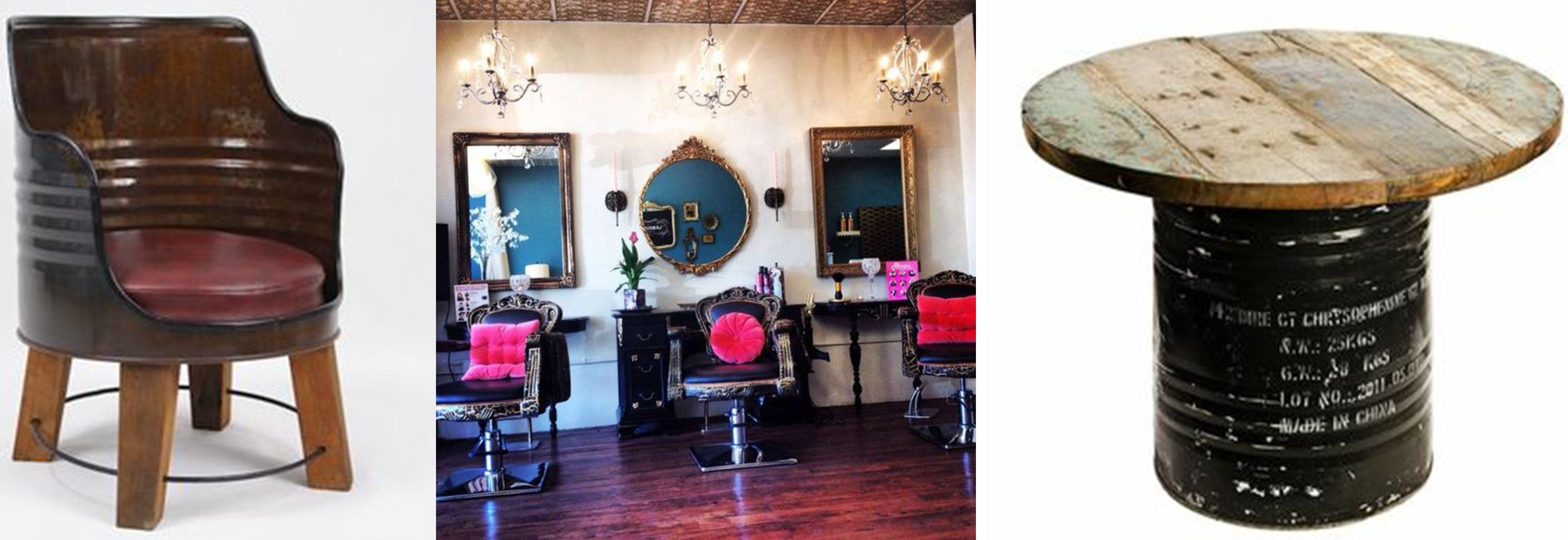 cadeira cabeleireiro de tambor